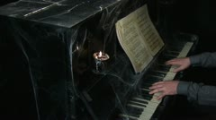 Playing the piano in the web 12 Stock Footage