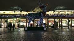 Christmas lights at Convent Garden, London 1 Stock Footage