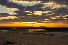 sunset over anglesey - stock photo