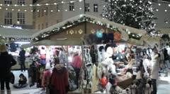Christmas market in Tallinn - stock footage