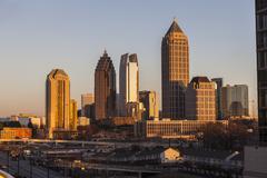 Atlanta Georgia skyline auringonlasku Kuvituskuvat