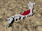 Japan map flag on japanese yen illustration Stock Illustration