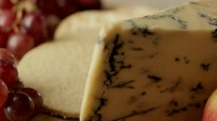 Stilton cheese rotating Stock Footage