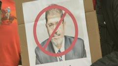 Mad at president Morsi Stock Footage