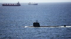 Submarine at the Sea Stock Footage