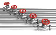 Pipeline with valves Stock Illustration