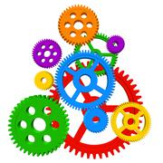 Color gears - stock illustration