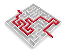 Path across labyrinth Stock Illustration