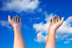 Hands in the sky Stock Illustration