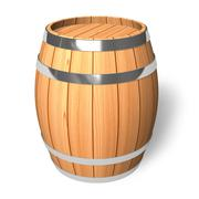 Wooden barrel - stock illustration