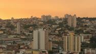 City View 7. Brazilian city, Sorocaba, Sao Paulo. Surreal colorful sky Stock Footage