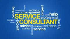 Service Consultant Typography Stock Footage