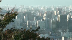 Skyline of Kyoto, a major city in Japan Stock Footage