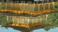 Reflection in the lake of the Golden Pavillion in Kyoto, Japan Stock Footage