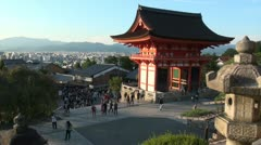 Overview of beautiful Kiyomizu temple in Kyoto, Japan Stock Footage