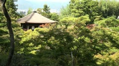 Silver Pavillion and beautiful autumn colors in Kyoto, Japan Stock Footage