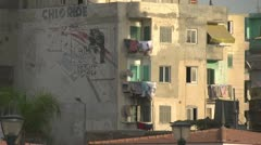 Apartment Alexandria with laundry on balconies, #2 Stock Footage