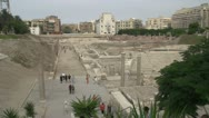 Alexandria, roman ruins theatre Stock Footage