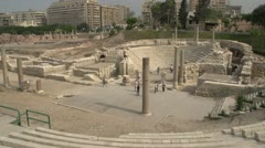 Alexandria, roman ruins wide shot, #2 Stock Footage