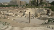 Stock Video Footage of Alexandria, roman ruins wide shot, #2