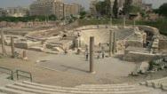 Alexandria, roman ruins wide shot, #2 Stock Footage
