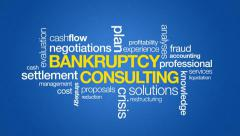 Bankruptcy Consulting - stock footage