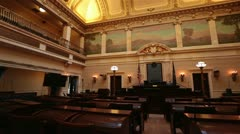 Utah State Senate chamber pan HD 4759 Stock Footage