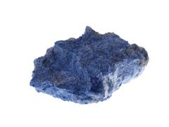 dumortierite. origin: madagascar - stock photo