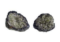 volcanic bomb/olivine. origin: lanzarote - stock photo