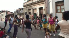 Santiago de Cuba, Dancing on the street Stock Footage