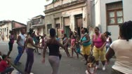 Stock Video Footage of Santiago de Cuba, Dancing on the street