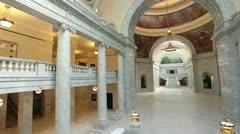 Utah State Capital building inside pan HD 4789 Stock Footage