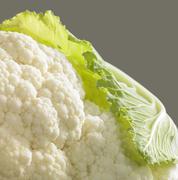 cauliflower closeup - stock photo