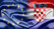 Eu and croatia Stock Illustration