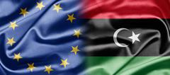 eu and libya - stock illustration