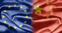 Eu and china Stock Illustration