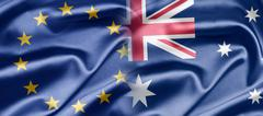 eu and australia - stock illustration