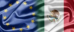 eu and mexico - stock illustration