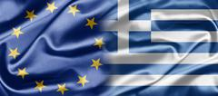 eu and greece - stock illustration