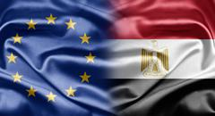 eu and egypt - stock illustration
