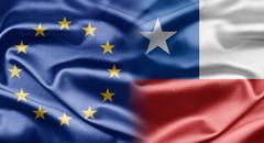 eu and chile - stock illustration