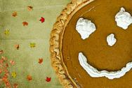 Stock Illustration of Autumn pumpkin pie