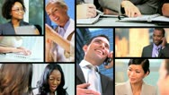 Montage Successful City Business People Stock Footage