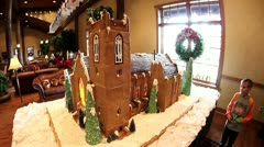 Ginger bread chapel Stock Footage