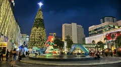 Summer Christmas Timelapse at Night Stock Footage