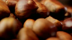Stock Video Footage of Chestnuts, turn and rack focus