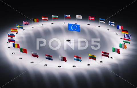 Stock Illustration of european union flags