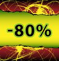 Discount eighty percent off Stock Illustration