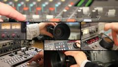 Television Equipment - multiscreen - stock footage
