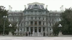 Building for White House staff Stock Footage